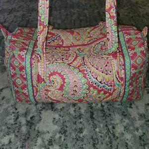 Vera Bradley Pink Swirls Large Duffel Bag